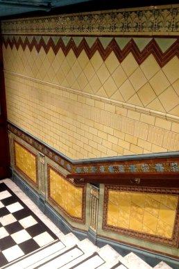 Art Nouveau Tiles at Sloans in Glasgow
