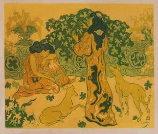Les Princesses a la Terrasse 1894 by Paul Elie Ranson