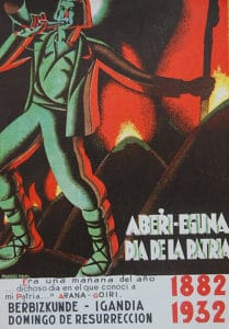 Cartel del primer Aberri Eguna en 1932