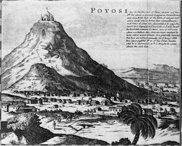 Representación del Cerro del Potosi