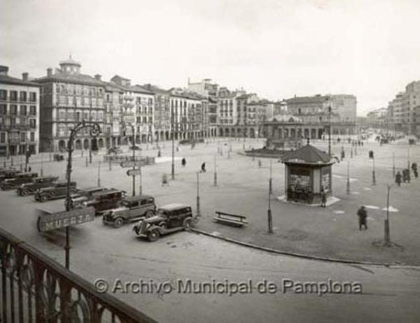 Plaza del Castillo (Pamplona) en 1934