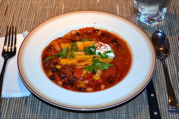 Three Bean Chili with Espelette Pepper