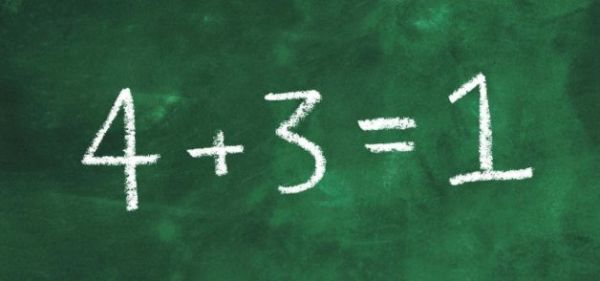4+3=1