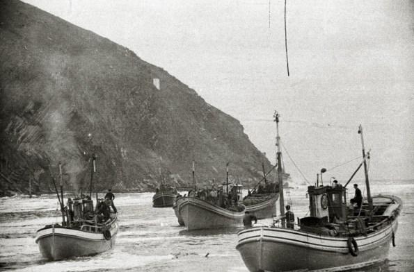 Pescadores de Orio en 1952 (fotografia Kutxateka)