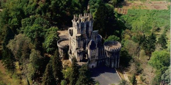 Vista aérea del Castillo de Butrón. Puesto en subasta pública por BNP-Paribas