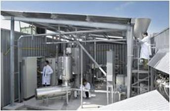 Planta-piloto de de producción de bio-oil diseñada por IK4 con tecnología de la UPV/EHU