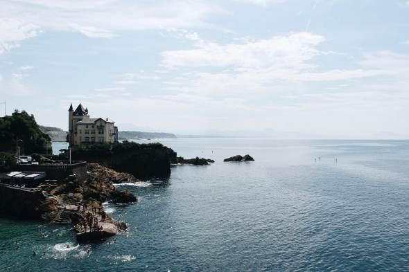 Biarritz. Mirando al Golfo de Bizkaia