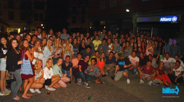 Estudiantes Erasmus en Bilbao- Otoño 2014