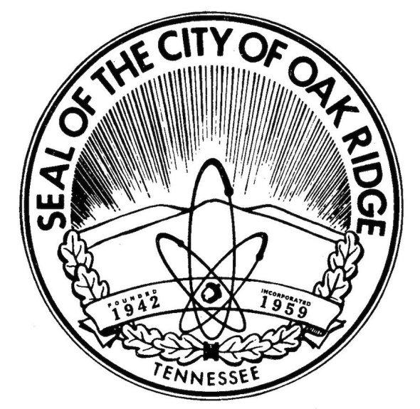 "Escudo de  Oak Ridge, la ""ciudad Secreta"" de los USA"