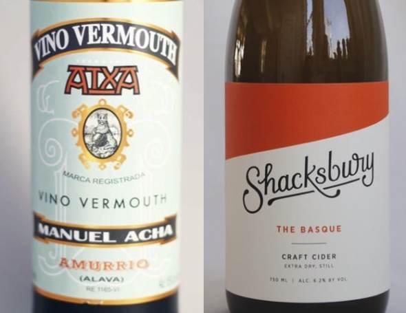 Sidra y vermouth vascos recomendados en la CBS por el chef Frank McClelland