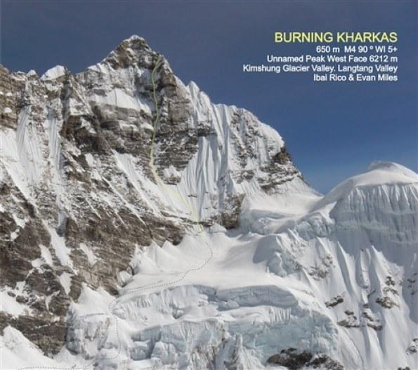 """La ruta """"Burning Kharkas"""" hasta la cima del """"pico sin Nombre"""" en el Himalaya nepalí"""