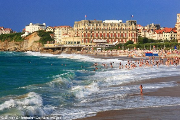 High and handsome: The Hotel du Palais adds an extra dash of charm to Biarritz's dazzling shoreline