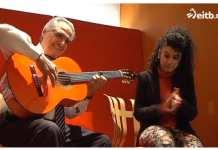 """Yarei Jiménez interpretando canción """"Txoria txori"""" de Mikel Laboa. Version gitana"""
