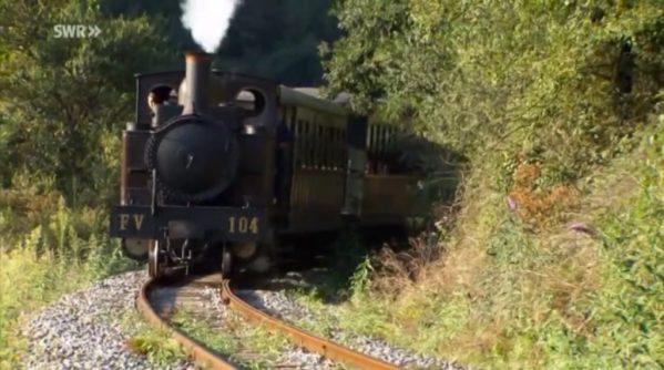 Imagen del programa de la SWR , Eisenbahn Romantik, sobre el Museo Vasco del Ferrocarril