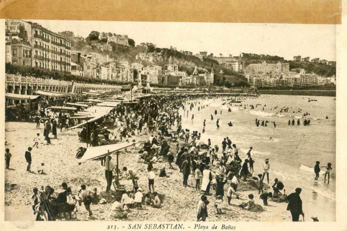San Sebastián - Playa de Baños (1930)