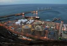 Vista parcial de las instalaciones de Bahia Bizkaia Gas y electricidad en el Puerto Exterior de Bilbao
