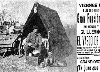 """Acto de homenaje y recaudación de fondos para el """"Vasco de la Carretilla"""". Extraordinario el titulo de la obra que se representaba"""