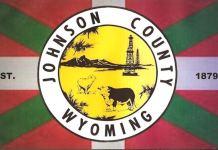 Bandera del Johnson County (State of Wyoming)