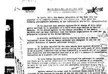 Fragmento de un documento del FBI sobre la delegación vasca en New York