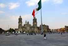 Plaza del zócalo en Mexico DF