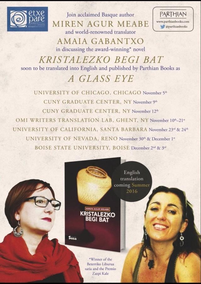 conferencias La escritora Miren Agur Meabe y su traductora literaria al inglés, Amaia Gabantxo, en USA