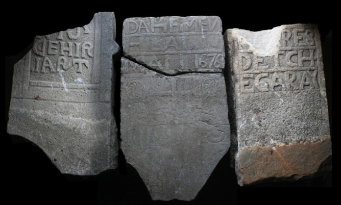 Tombstones of Basque sailors found in Placentia, Canada ( © Christopher Newhook)