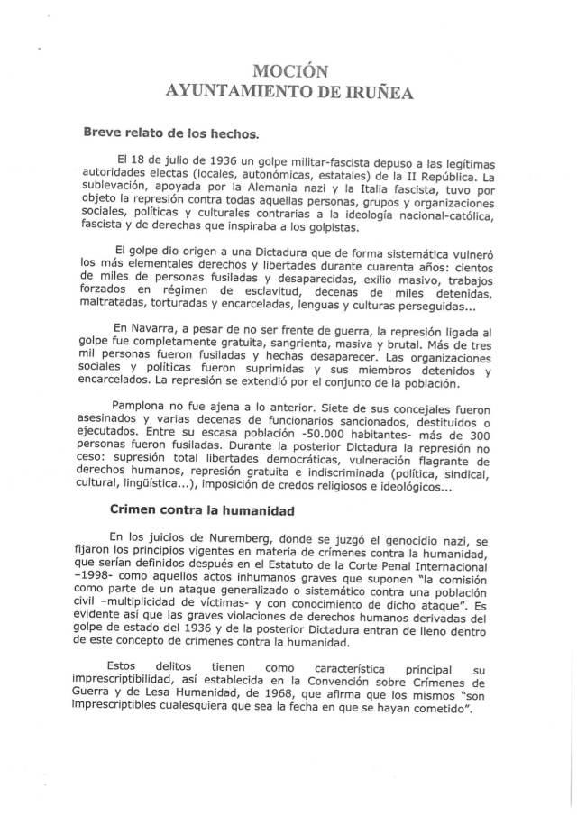mocion ayuntamiento iruna contra franquismo - 1