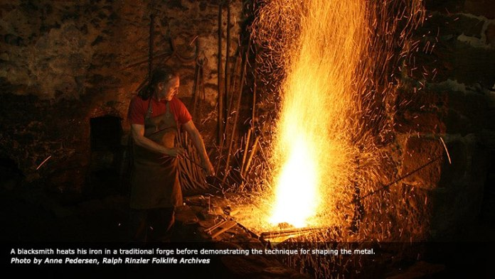 Ferrón vasco en la web del Smithsonian Folk Festival