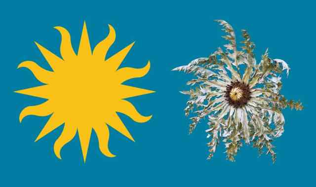 "The Smithsonian ""Sun"" is turned into a Basque Eguzkilorea for the 2016 Folklife Festival"