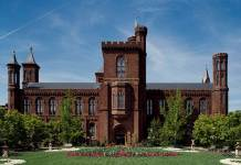 The Smithsonian Institution Building, better known as the Smithsonian Castle. Photo by Carol M. Highsmith, courtesy of the Library of Congress Prints and Photographs Division