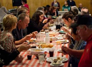 Since 1958, Basques in Minidoka County have put on a big community dinner, bringing immigrants and Mini-Cassia locals together for meals of lamb. Most of the original cooks are gone, but their children continue the tradition. Here, people dine at the 58th Annual Basque Dinner Festival March 19 in Rupert. Stephen Reiss The Times-News