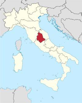 Umbriako eskualdea Italian