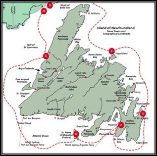 Mapa de la ruta de los balleneros