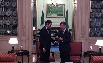 El gobernador de Querétaro, Francisco Domínguez Servién, se reune con Iñigo Urkullu Renteria, lehendakari del gobierno vasco,