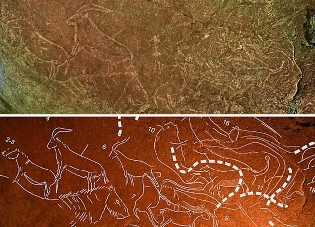 Armintxe koban aurkitutako 14.000 urte dituzten margoak (Lekeitio-Basque Country)