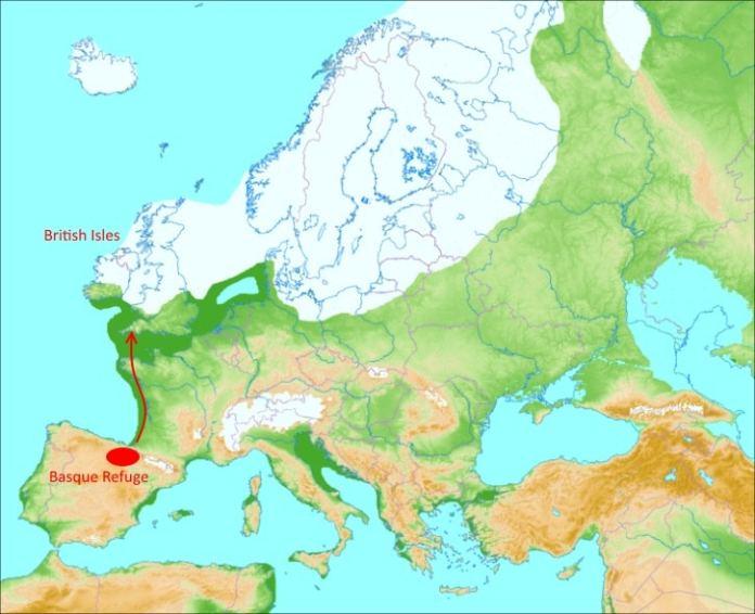 """La colonización de Gran Bretaña de los """"protovascos"""" tras la última glaciación"""