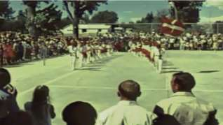 """A still from the documentary """"The Basque Sheepherder"""", filmed in the early 1970s. This scene is from a Basque Festival in the US. This shows us one of the activities of the Basques in that area which is kept vigorously alive even well into the 21st century: Festivals"""