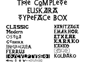 Muestra de las 14 fuentes Euskara