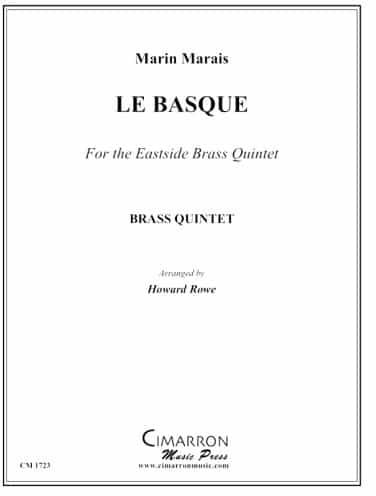 """Marin Maraisen""""Le Basque"""" partituraren portada."""