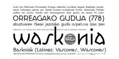Tipografía Waskonia