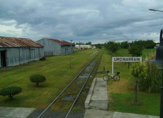 Antigua estación de Urdinarrain (Argentina) (De Canopus49 - Trabajo propio, CC BY-SA 3.0, https://commons.wikimedia.org/w/index.php?curid=21414374)