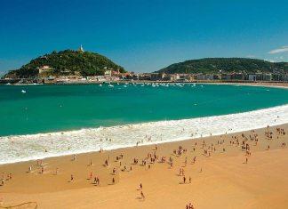 playa-de-la-concha-mejor-playa-de-europaUna espectacular imagen de la Playa de la Concha, en el corazón de Donostia