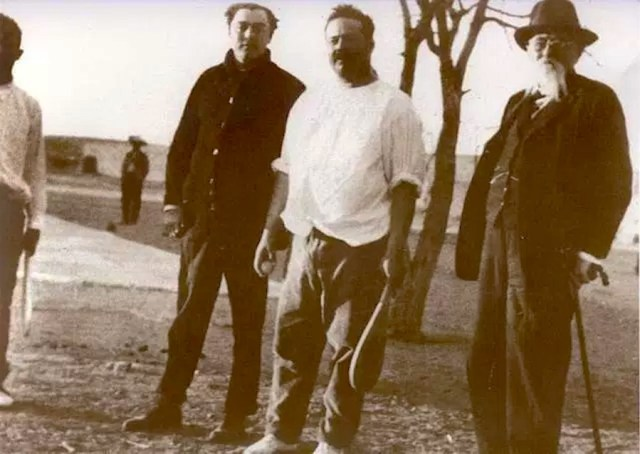 Pancho Villa poses for the camera during a Basque pelota match.