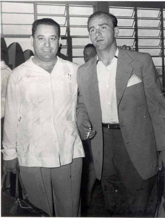 El vasco Damian Gaubeka con Alfredo Di Stéfano, en Caracas