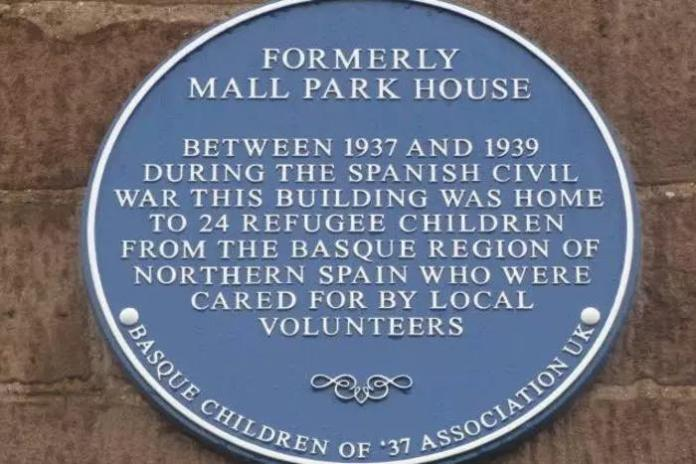 Commemorative plaque at Montrose, Scotland