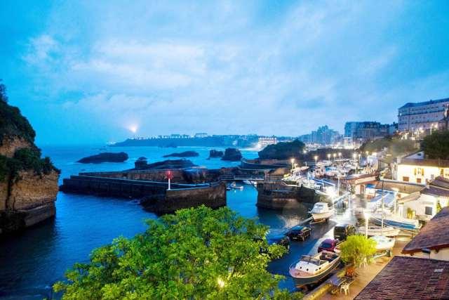 Biarritzen ikuspegia egunsentian, © Markel Redondo 'The New York Times'-entzat