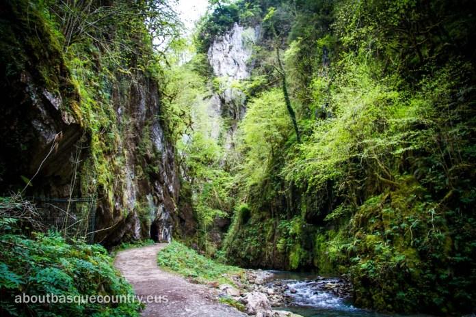 Rincón del recorrido por la Garganta de Kakueta (Xiberoa)
