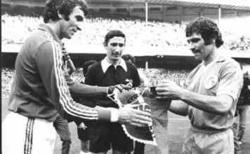 José Angel Iribar, Sánchez Arminio and Johnny Fulham. Image by Carlos Extabe