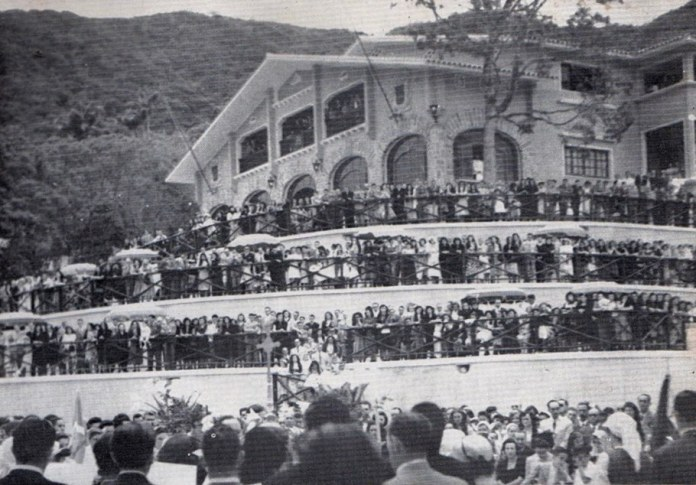 Inauguration, in March 1950, of the Basque Center in Caracas, with Lehedakari Aguirre in attendance (photo from Iñaki Anasagasti's blog)