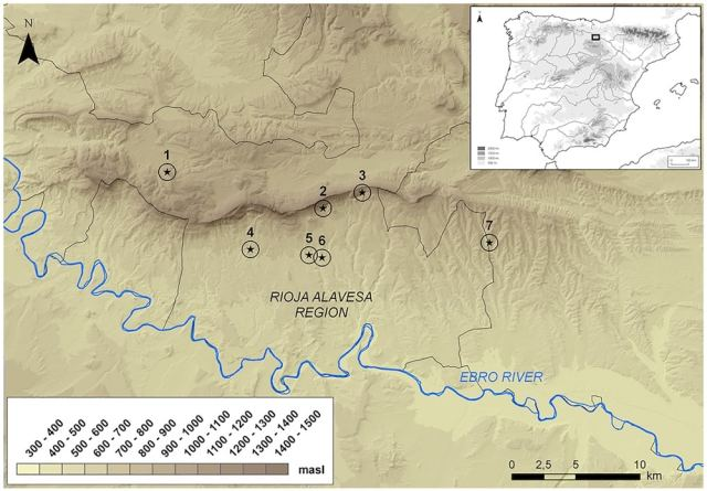 . Map of the Rioja Alavesa region showing the location of the burial sites studied.